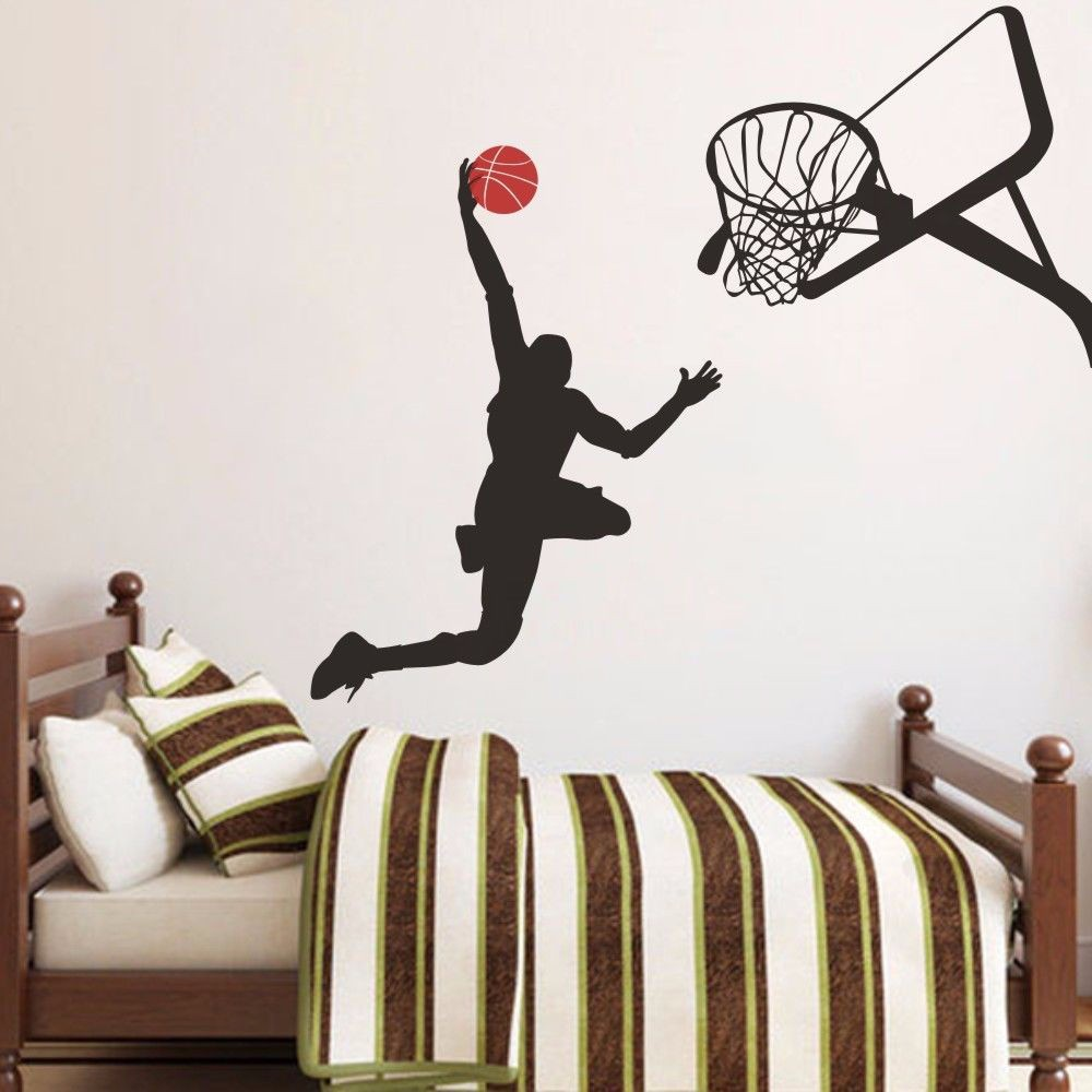 Cool Wandtattoo Basketball Referenz Von Slam Dunk Michael Jordan Vinyl Junge Spielen