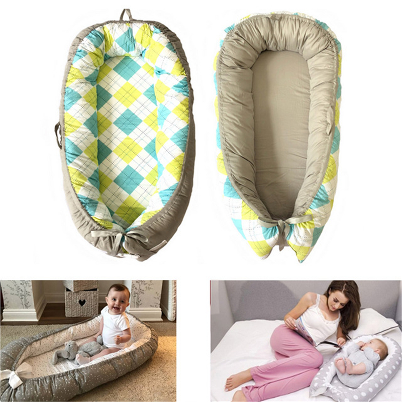 Baby Nest Bed Crib Portable Removable And Washable Crib Travel Bed For Children Infant Kids Cotton Cradle For Newborn