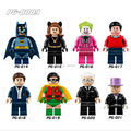 8 UNIDS Villanos Batman Minifigs TV Minifigs Conjunto de Bloques de Construcción de Ladrillo Juguetes Pingüino Robin Joker Catwoman