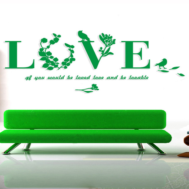 1pc 7134cm removable romantic 3d love quoted wall stickers romance 1pc 7134cm removable romantic 3d love quoted wall stickers romance making wall decals home junglespirit Image collections