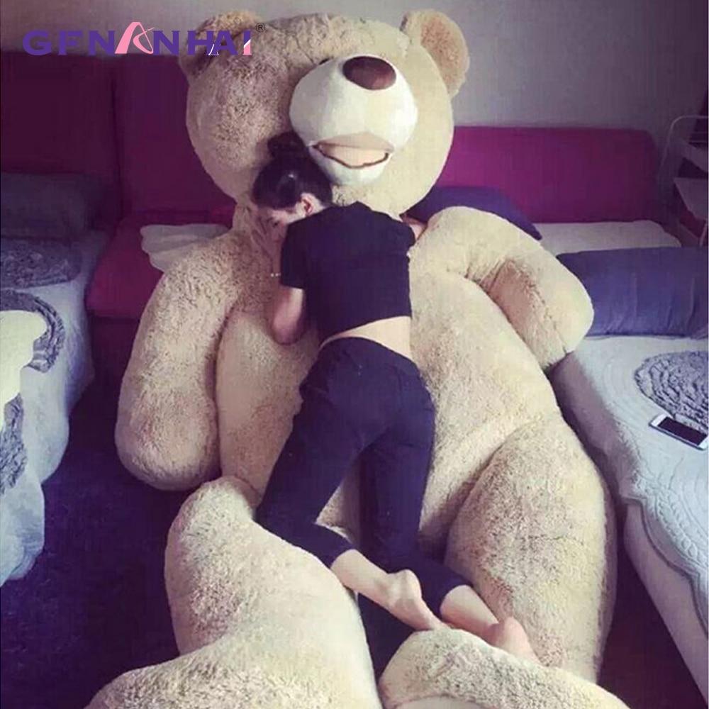 1pc 100-200cm America Giant Teddy Bear Plush Toys Soft Teddy Bear Skin Popular Birthday & Valentine's Gifts For Girls Kid's Toy