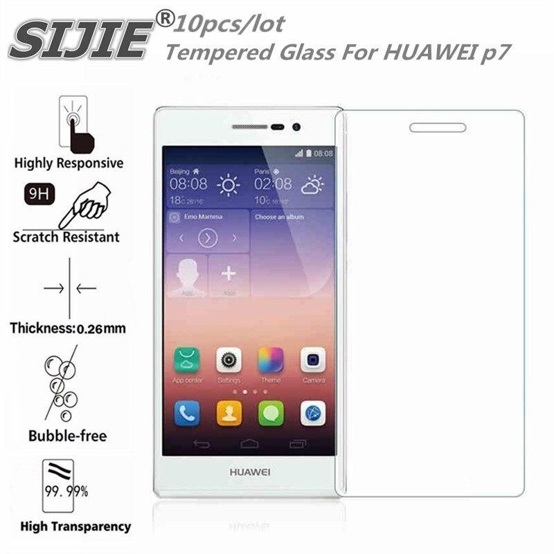 PEÇAS Tela de Vidro Temperado Para HUAWEI Ascend p7 P7-L00 10 capa protetora tela do smartphone protetora caso temperado 9 H em