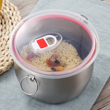 купить LANSKYWARE Chinese Stainless Steel Instant Noodle Bowl With Lid Handle Induction Cooker Heating Food Container Salad Rice Bowl по цене 593.32 рублей