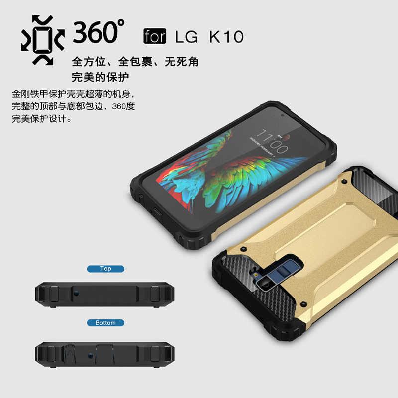 Per il Caso di LG K10 Copertura di Stile di Affari In Silicone e Custodia In Plastica Dura Per LG K10 2016 Caso Per LG K 10 M2 K420N K430 K430DS Fundas