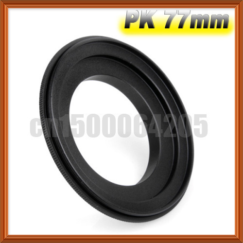 Camera accessories free shipping 77mm Macro Reverse Adapter Ring for Pentax K Mount PK-77