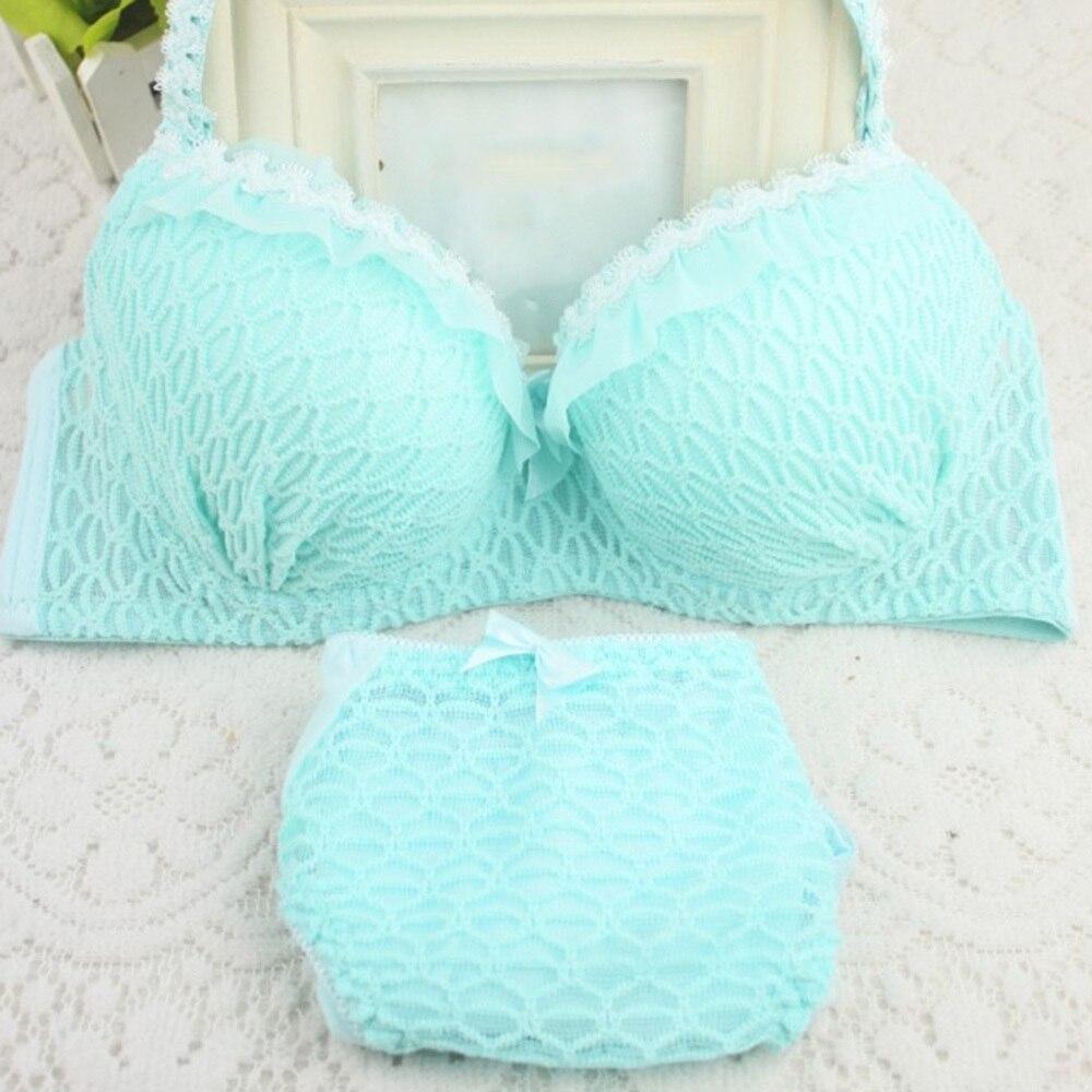 Women's Fashion Sexy Underwear Lace 3/4 Cup Ultra-thin Transparent   Bra     Set   Brassiere   Set