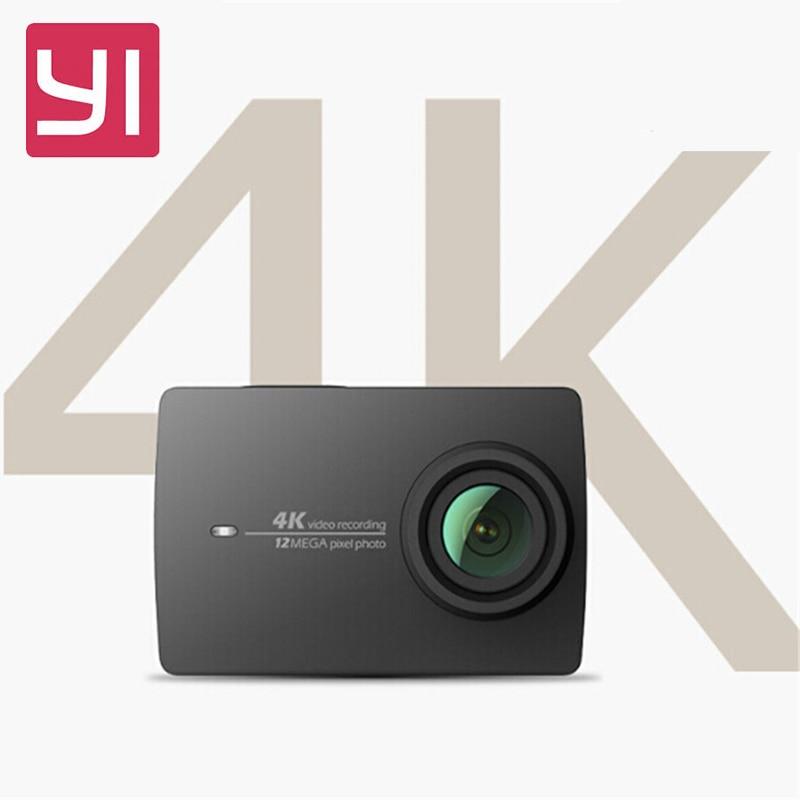 "YI 4 K Action Macchina Fotografica di Telecomando 4 K/30 2.19 ""Schermo Retina HD IMX377 12MP 155 Gradi EIS LDC Xiaomi YI Sport Action Camera"