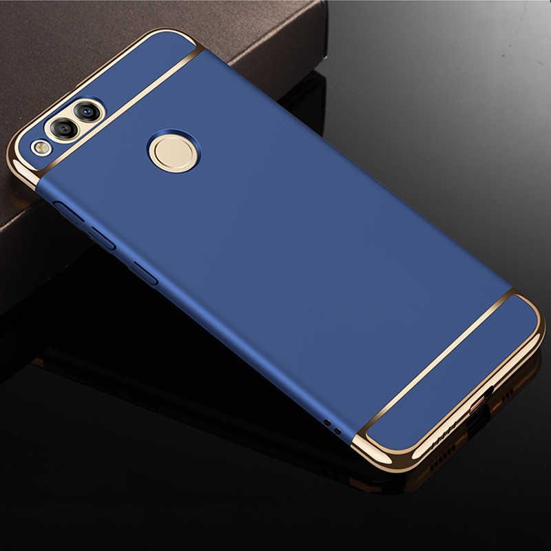 YUETUO роскошный жесткий пластиковый телефон назад etui, coque, чехол, чехол для Huawei honor 7x7 x x7 Для honor 7x Черные Аксессуары 3 в 1