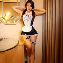 Sexy Maid Uniforms Role Play 2019 Hot Lingerie Lovely Woman black&White Erotic Lace Costume F090