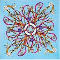 H Style 100% Twill Silk Women Scarf 100*100 cm High Quality Gift Silk Shawls Euro Design True Life Print Square Scarves