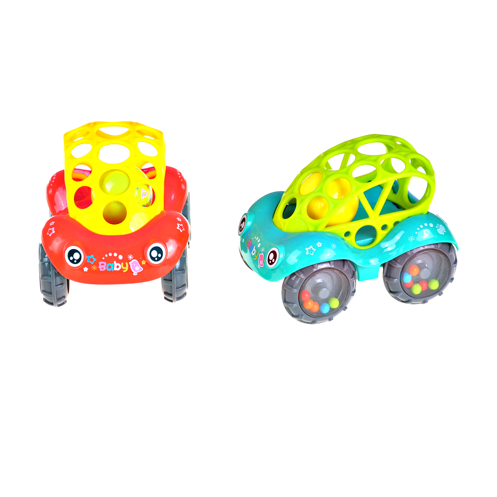 Silicone Car Baby Bells Hold Soft Toy Baby Teether Hand Catch Ball Baby Ring Teether Chew Charms Baby Toddler Toys