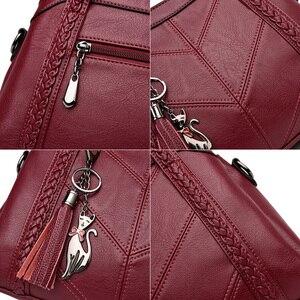 Image 5 - Модная женская сумка через плечо, сумки для женщин с кисточками, роскошные сумки, женские сумки, дизайнерские сумки, брендовые кожаные сумки через плечо