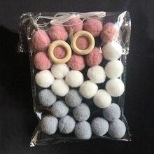 Sudor decoración lana bolas de fieltro 2cm hecho a mano de los niños Pared de habitación decoración ornamento colgante vivero accesorios decorativos