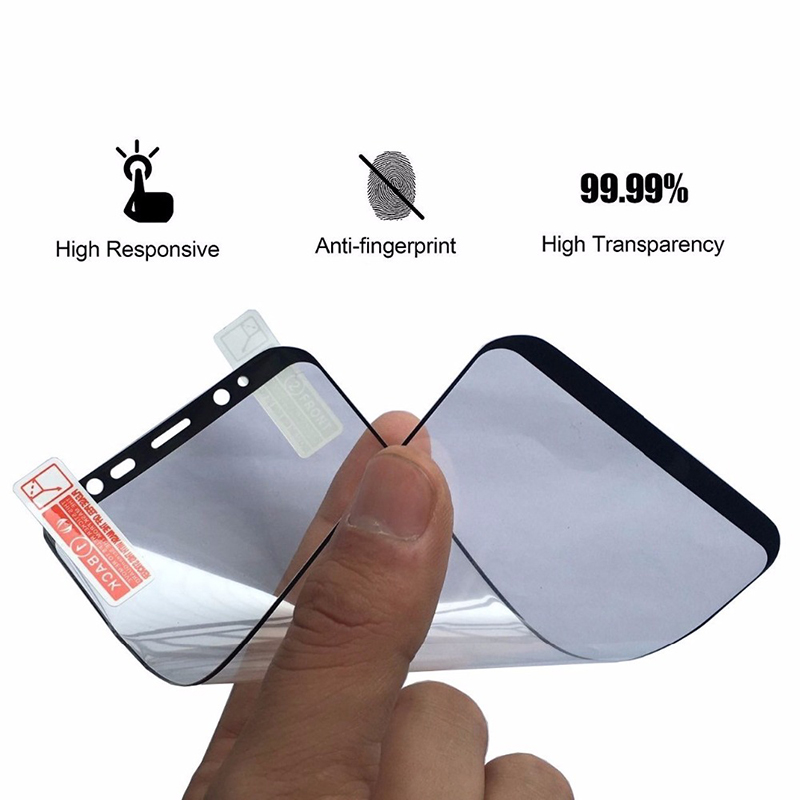 Soft PET Anti-Burst Protective Film For Samsung Galaxy S8 S8 Plus Idewei Brand 3D Full Curved Screen Protector For Galaxy S8