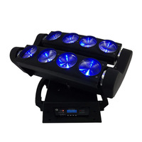 Fast Free Shipping 8x10W 4IN1 RGBW LED Spider Moving Head Beam Light DMX Led Light 3