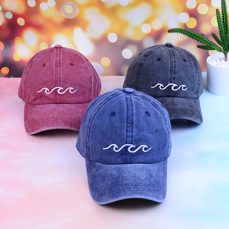 2019 sports hats sea wave   baseball     cap   high quality unisex fashion dad hats sports hats women men