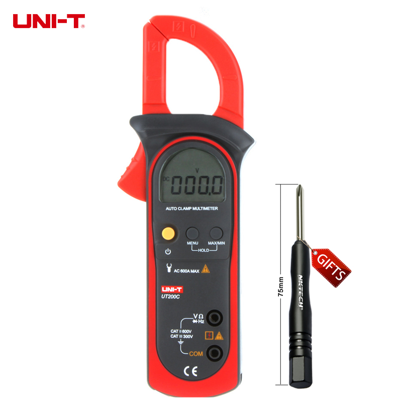 UNI-T UT200C LCD Electrical Professional Multifunction Auto Range 5999 Counts Digital Clamp Meters W/ Frequency Test uni t ut70b lcd digital multimeter auto range frequency conductance logic test transistor temperature analog display
