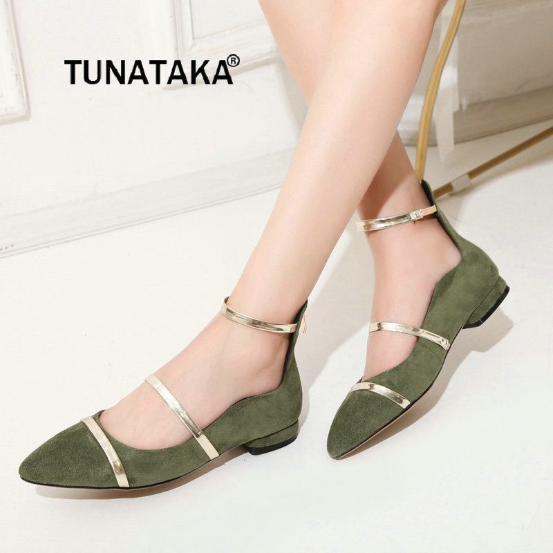 Women Flock Comfortable Casual Low Heel With Back Zipper Pumps Fashion Pointed Toe Dress Shoes Pink Black Green цена 2017