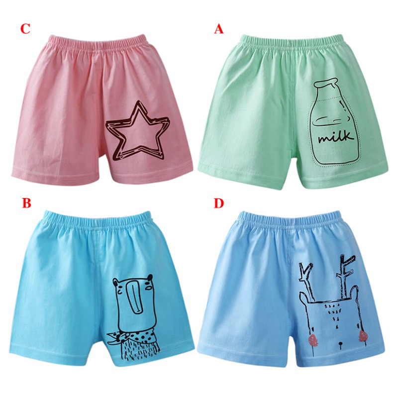 Summer Baby Cartoon   Short   Trousers Kids Knee Length   Shorts   Children Boys Girls   Shorts   Cotton Casual Clothes