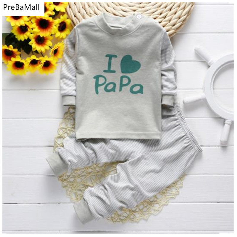 2016 New autumn and winter  children s cotton underwear long sleeved pajamas the fall baby clothes