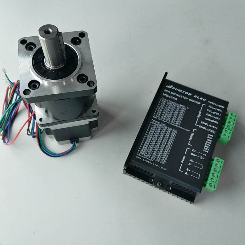 10:1 Ratio  NEMA23 Motor 2.2NM 320Oz-in 3A 4 Wires driver kits stepper motor with Planetary gearbox Speed  reducer for CNC10:1 Ratio  NEMA23 Motor 2.2NM 320Oz-in 3A 4 Wires driver kits stepper motor with Planetary gearbox Speed  reducer for CNC