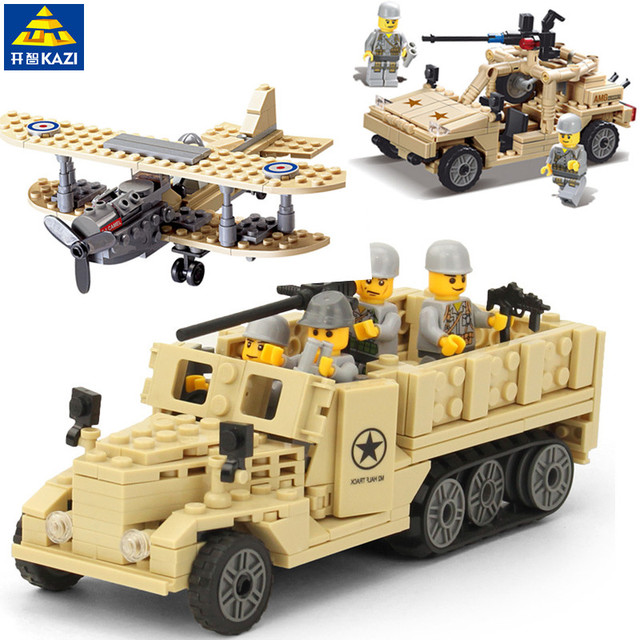 US $11 53  Legoings Military Technic Building Blocks M2 Half Track Truck  Hummer Army Car Airplane Fighter Weapon Playmobil Building Toys-in Blocks