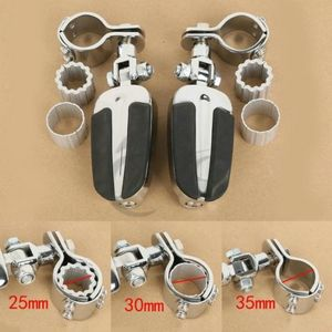 Image 2 - Motorcycle Foot Pegs Footrest with Clamps For Honda GoldWing GL1800 GL1500 2001 2011 VT750 Shadow 750 VT750C