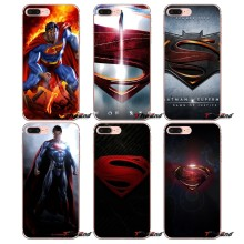 Para o iphone X 4 4S 5 5S 5C SE 6 6 S 7 8 Plus Samsung Galaxy J1 J3 J5 J7 A3 A5 2016 2017 DC Comics Superman Homem de Aço Caso Logotipo(China)