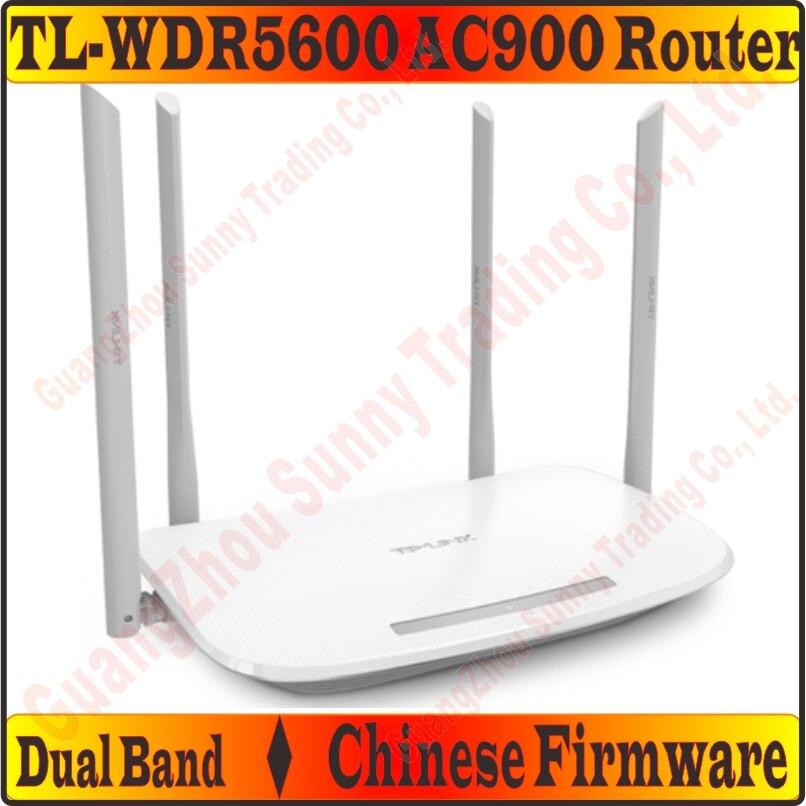 2870 24 руб  5% СКИДКА|[Китайско прошивка] 4 внешними антеннами TP LINK TL  WDR5600 Беспроводной маршрутизатор 802 11AC900Mbps двухдиапазонный