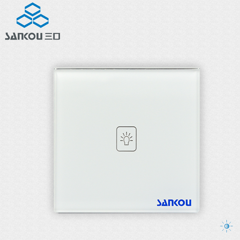Smart Home Remote Wall Switches White Crystal Glass Panel AC220V/110V Light Touch  Switch Remote Control EU Standard