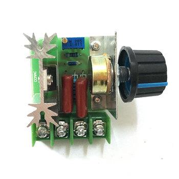 AC 220V 2000W 25A SCR stałe napięcie Regulator Step Down konwerter napięcia transformator Regulator prędkości silnika tanie i dobre opinie Silnik prądu stałego EBOWAN