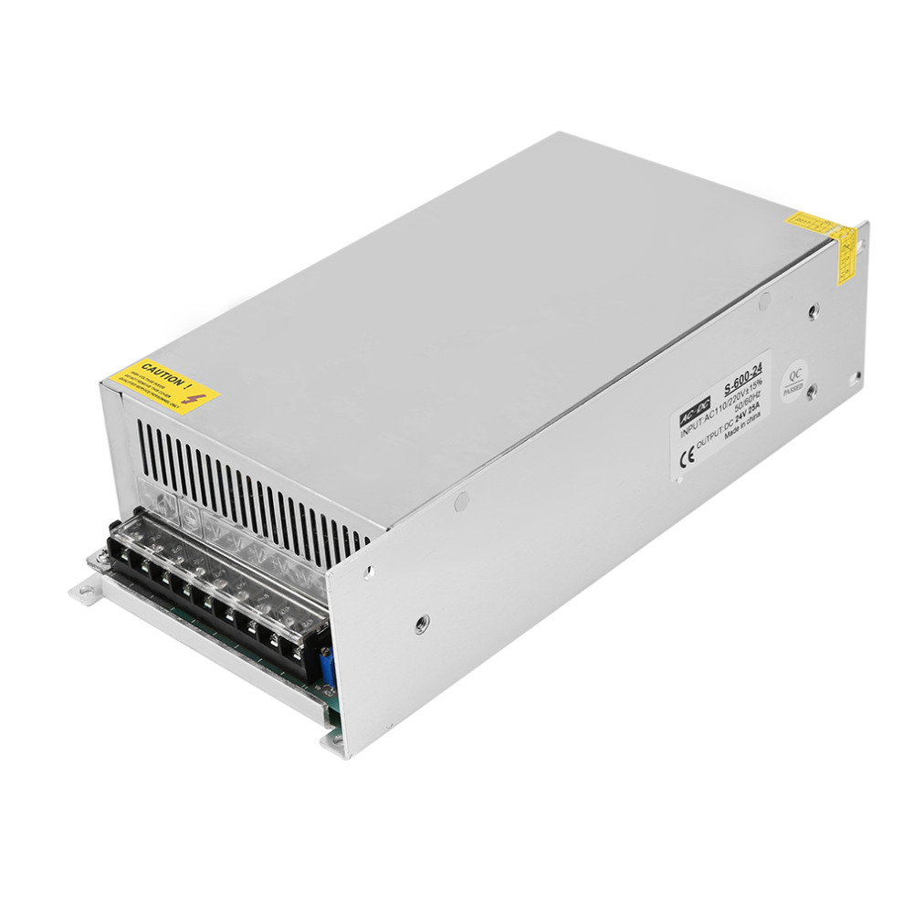 24V 25A Switching power supply Driver For LED Light Strip Display AC100-240V 50/60Hz Excellent For LED lightening dc power supply 36v 9 7a 350w led driver transformer 110v 240v ac to dc36v power adapter for strip lamp cnc cctv