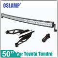 "Oslamp For Toyota Tundra Refitment 480W 50"" Curved 4X4 Driving LED Light Bar OffRoad Driving Work LED Bar+Roof Mounting Brackets"