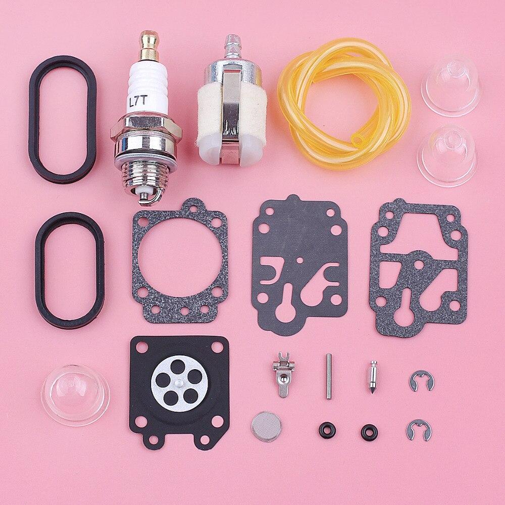 Fuel Filter Line Hose Primer Bulb Carburetor Repair Kit For Walbro WYA Model Carburetor K20-WYA Lawn Mower Engine Replace Part