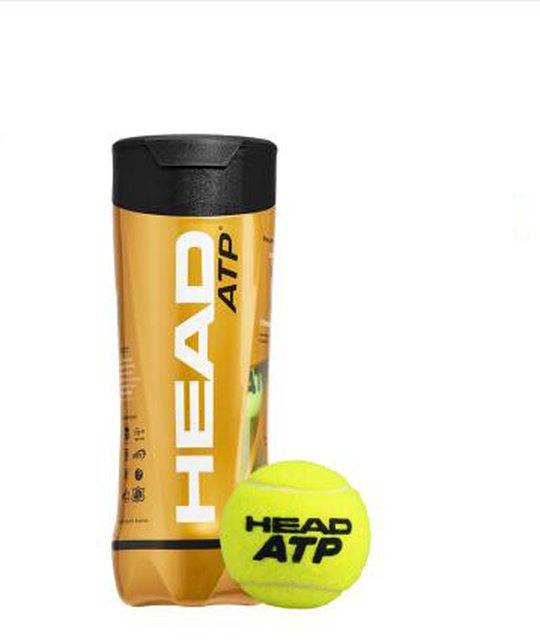 3PCS/Tube HEAD Original Tennis Balls Official ATP Tennis Training Balls Raquete De Tenis Ball Tennis Trainer ATP Pelotas Tenis