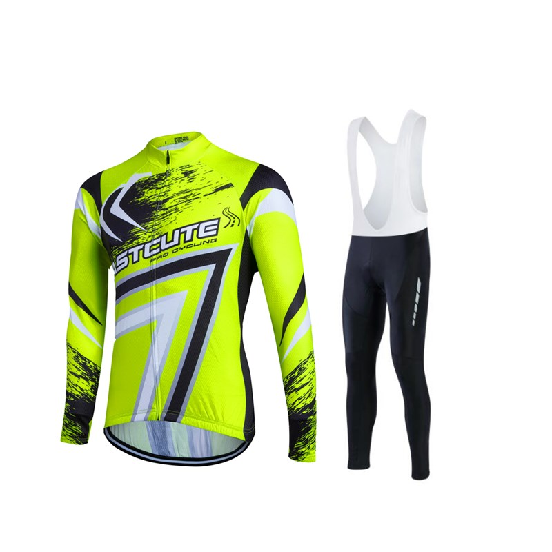 Fastcute Winter Thermal Fleece Cycling Jersey Sport Ropa Ciclismo Invierno Tights Sets MTB Long Sleeve Bicycle Clothing UUHL15A  fastcute cycling jersey sets ropa de ciclismo short sleeve road bicycle jersey gel padded mountain bike clothing mtb cycle set