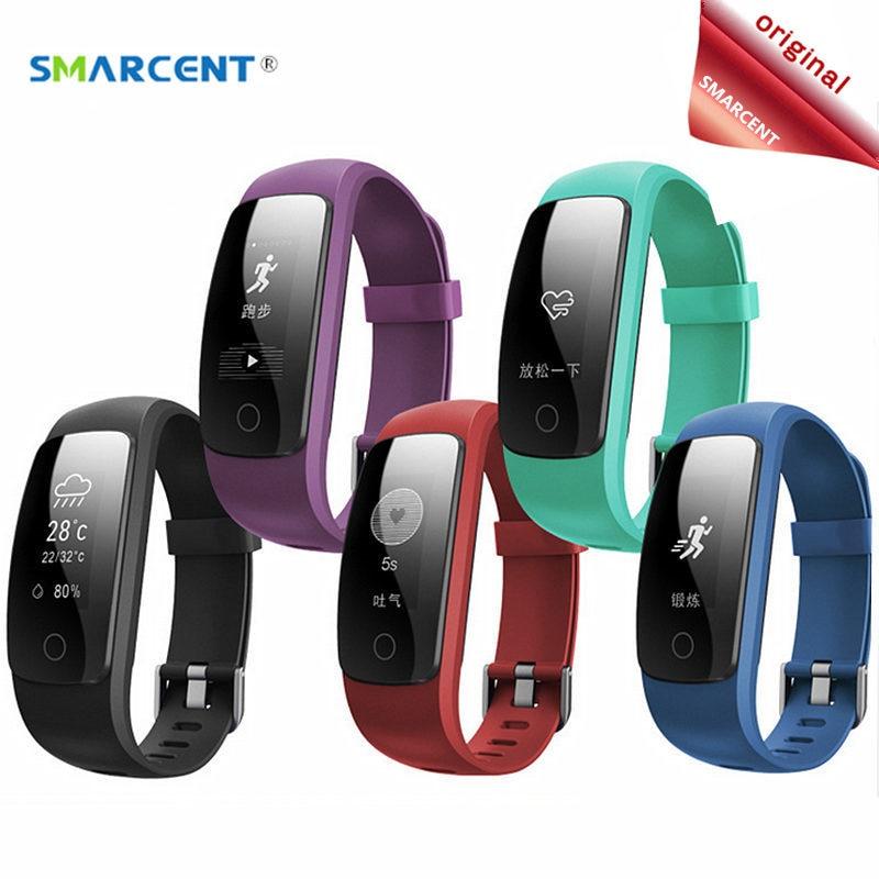 imágenes para SMARCENT ID107 Plus ID107 HR Pulsómetro Pulsera Inteligente GPS Tracker Cardiaco Podómetro Inteligente Pulsera Banda pk ID115 QS80