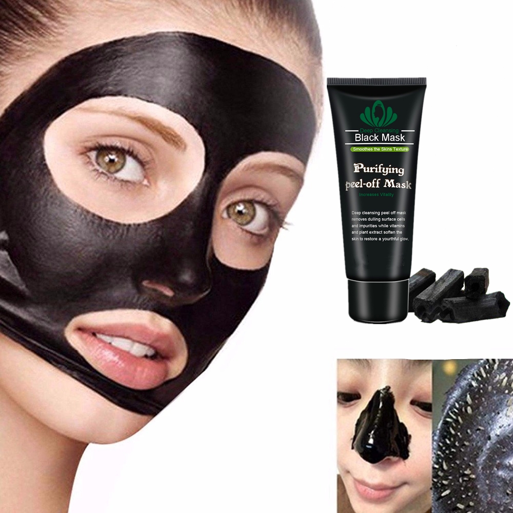 Dead Sea Mud Mask Skin Whitening Blackheads Cleaning Nose Pack Blackhead Remover Oil Control Black Peel Mask Facial Skin Care