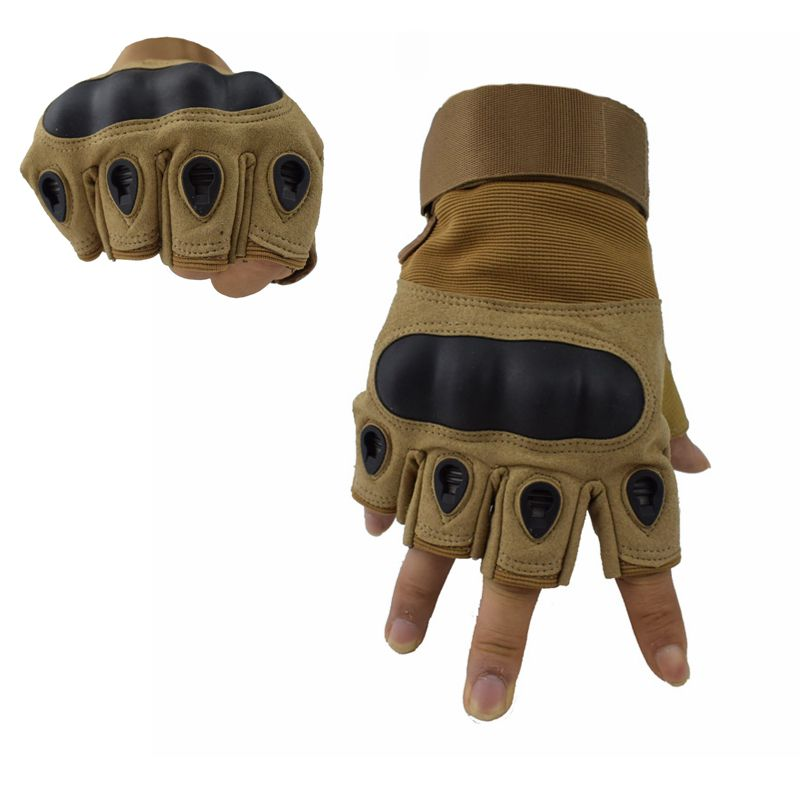 Tactical Gloves Military Army Combat Half Finger Anti-Slip Bicycle Gear Cycling Climbing Mountain Gloves Knuckle Shell Gloves