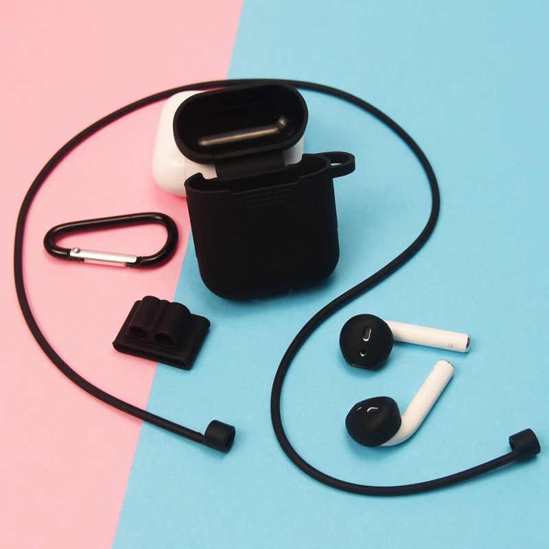 6 szt etui na słuchawki dla AirPods 2 1 pokrywa silikonowa bezprzewodowe słuchawki Bluetooth dla powietrza strąków etui ochronne dla AirPod przypadku