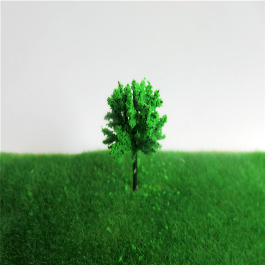 new architecture 3d scale artificial plastic model  green tree  layout165