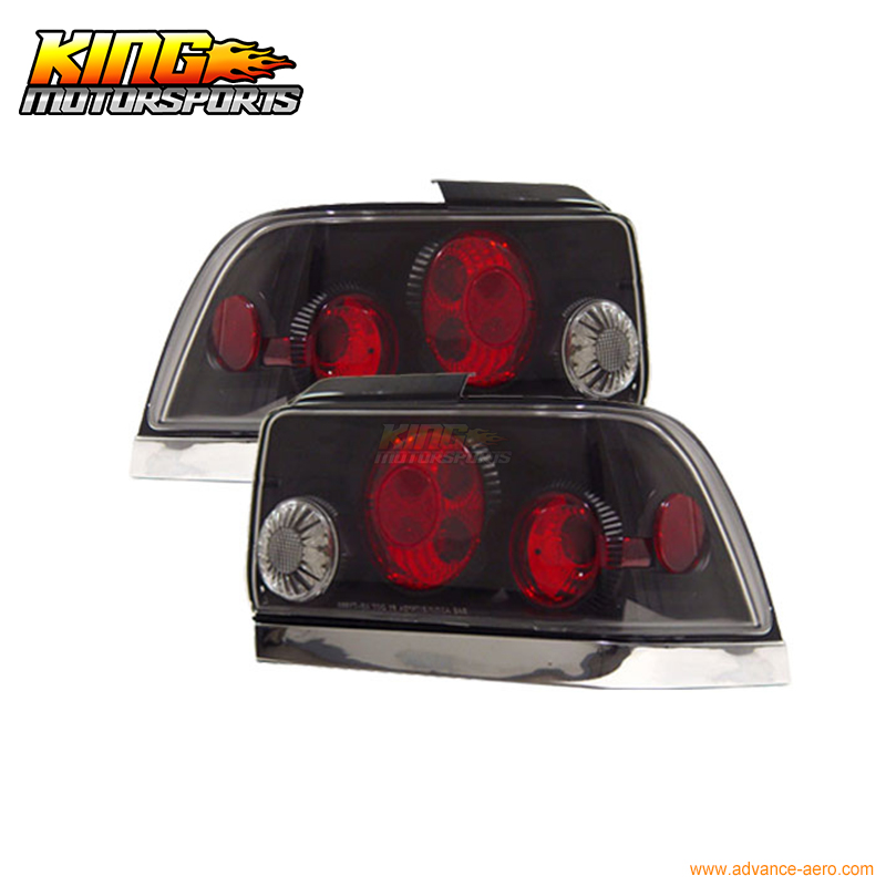 For 93 94 95 96 97 Toyota Corolla Tail Lights Lamps Black USA Domestic Free Shipping