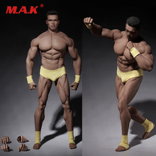 1/6 scale male man super-flexible strong muscular seamless bodybuilding figure body toy model suntan color strong chest muscle цена