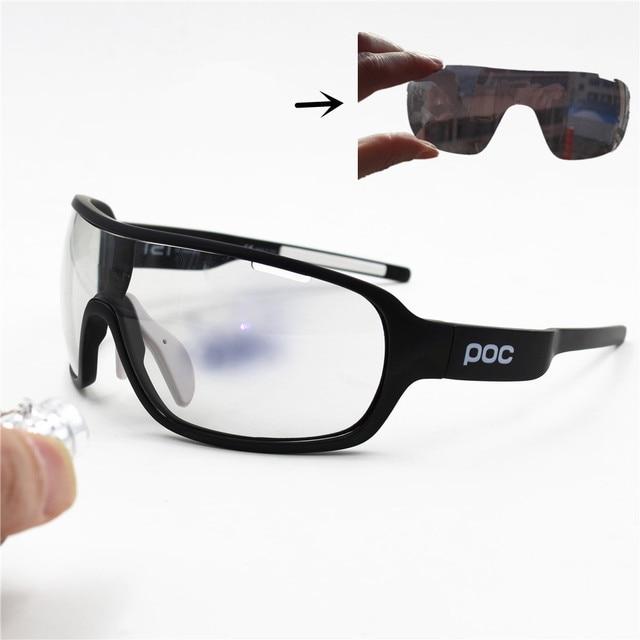 6a3962151e POC Running glasses 3 Lens fast Photochromic Cycling Sunglasses Goggles Men  Sport Road Mtb Bike Discoloration Glasses Eyewear