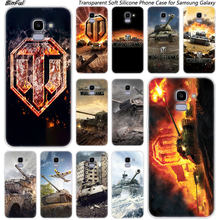 Hot world of tanks ซิลิโคนนุ่มสำหรับ Samsung Galaxy J8 J6 J4 2018 J2 Core J5 J6 J7 Prime j3 2016 2017 EU J4 Plus(China)