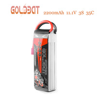 GOLDBAT Battery RC Lipo 11.1V 2200mAh 3S 35C Lipo RC Car Battery Drone Lipo charger with Deans Plug for RC Truggy Airplane Heli