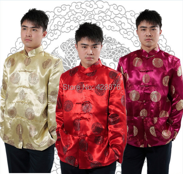 NEW 2018 Men s clothing men s long-sleeve cheongsam tang suit top chinese  style formal dress national clothes silk 0b80dc3b1bbc