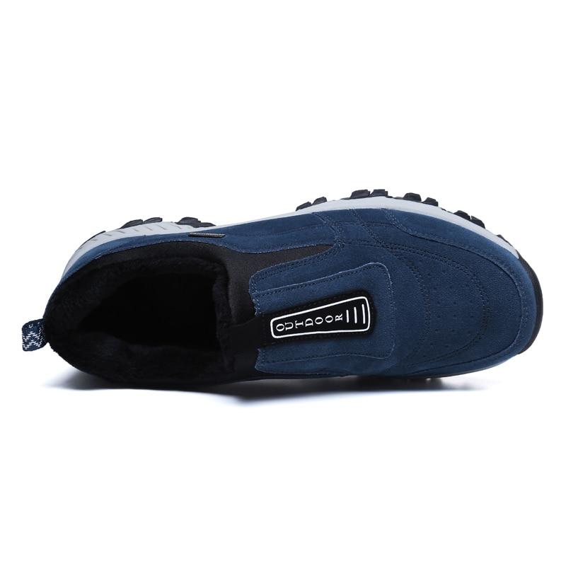 Cuero Los azul Ante Invierno Zapatos Negro Caliente De Casual gris Hombre Hombres Zapatillas Trabajo Tobillo Botas Directo ZqwZXnBt