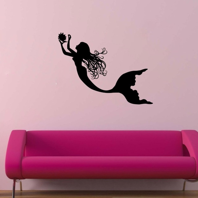 Mermaid Wall decal Vinyl Art DIY Sticker Nursery Kids Girls House ...