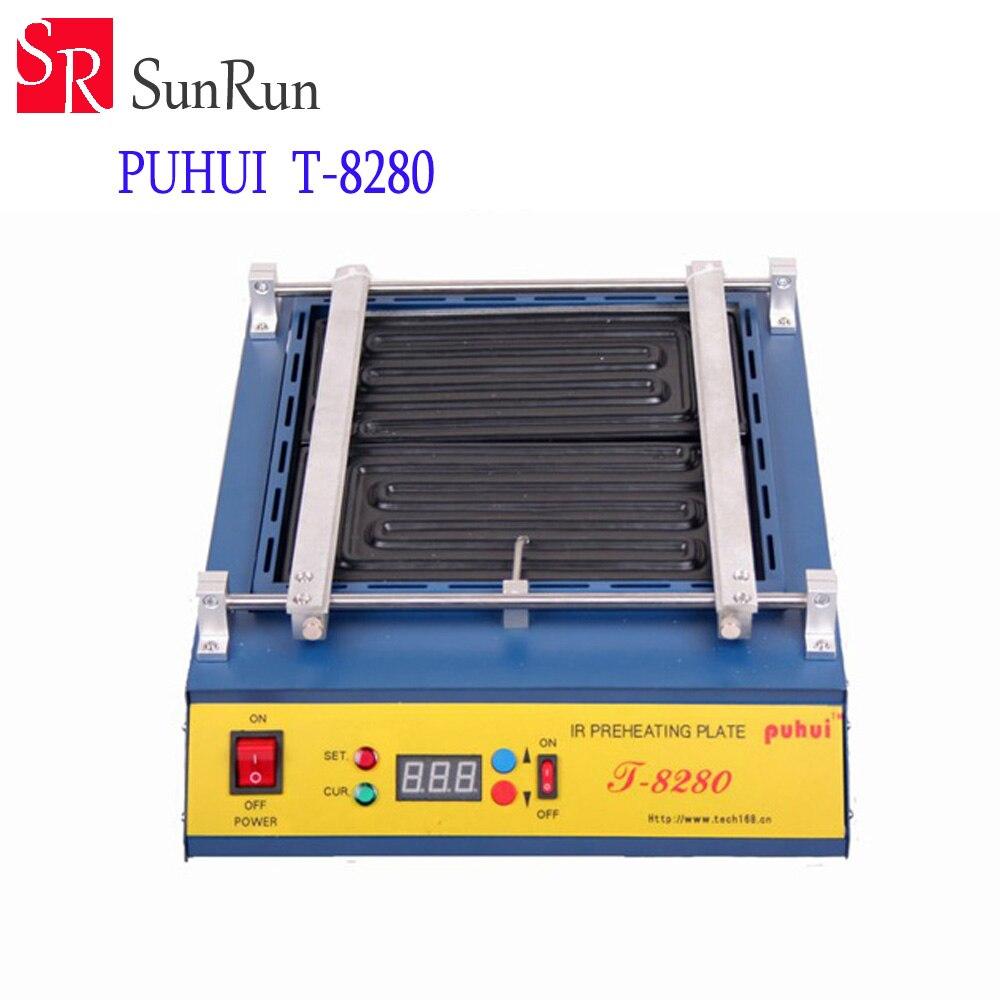 Puhui T8280 PCB Préchauffage IR Préchauffage Plaque T-8280 IR-Préchauffage Du Four 0-450degree Celsius 220 V ou 110 V